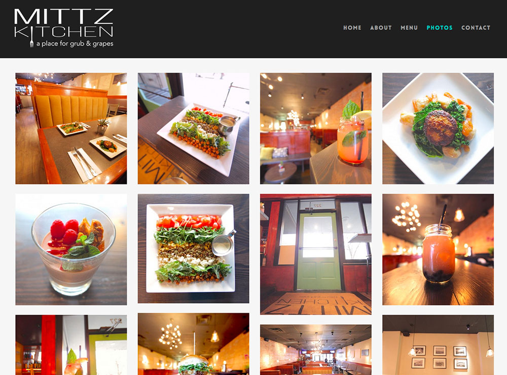 kitchen web design. Mittz Kitchen  Sugar Coded Designs